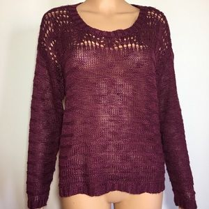 American rag knit sweater top size M